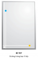 Gương Bancoot tráng bạc 5 lớp BC107