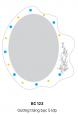 Gương Bancoot tráng bạc 5 lớp BC123
